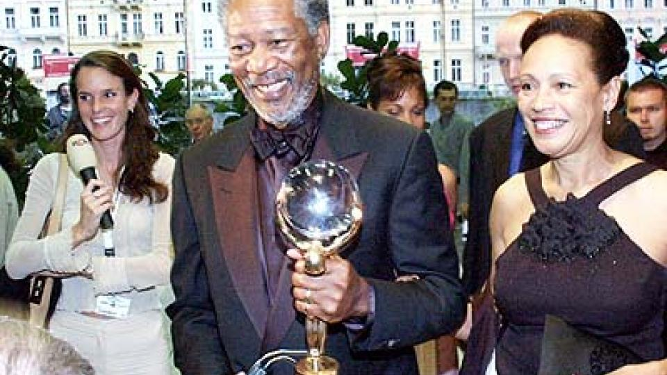 Morgan Freeman v zajetí novinářů