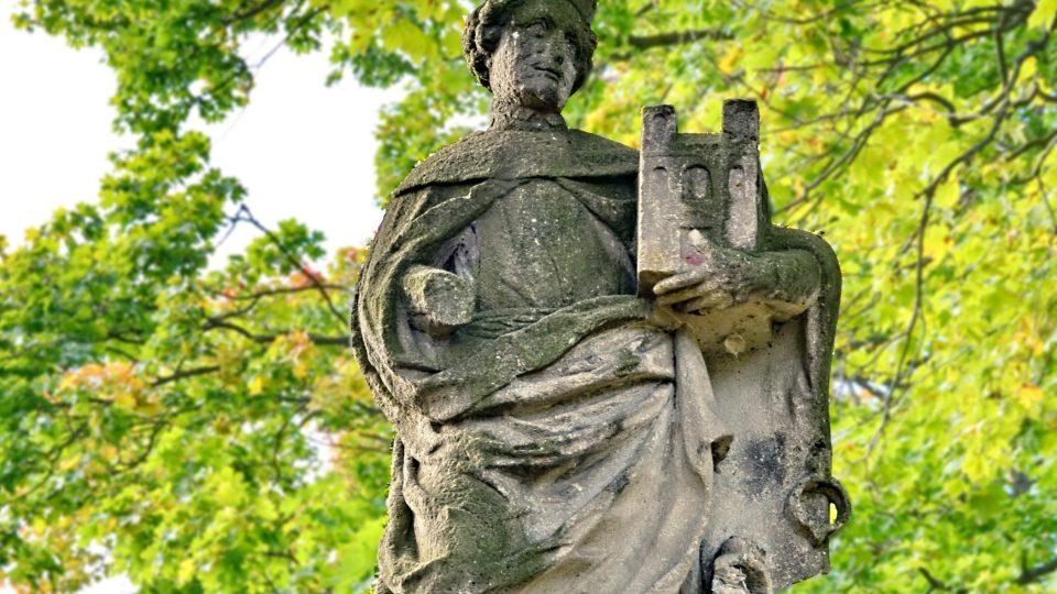 Klášter Teplá socha patrona plzeňské diecéze blahoslaveného Hroznaty