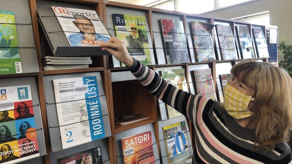 Mluvčí krajské knihovny Andrea Bocková