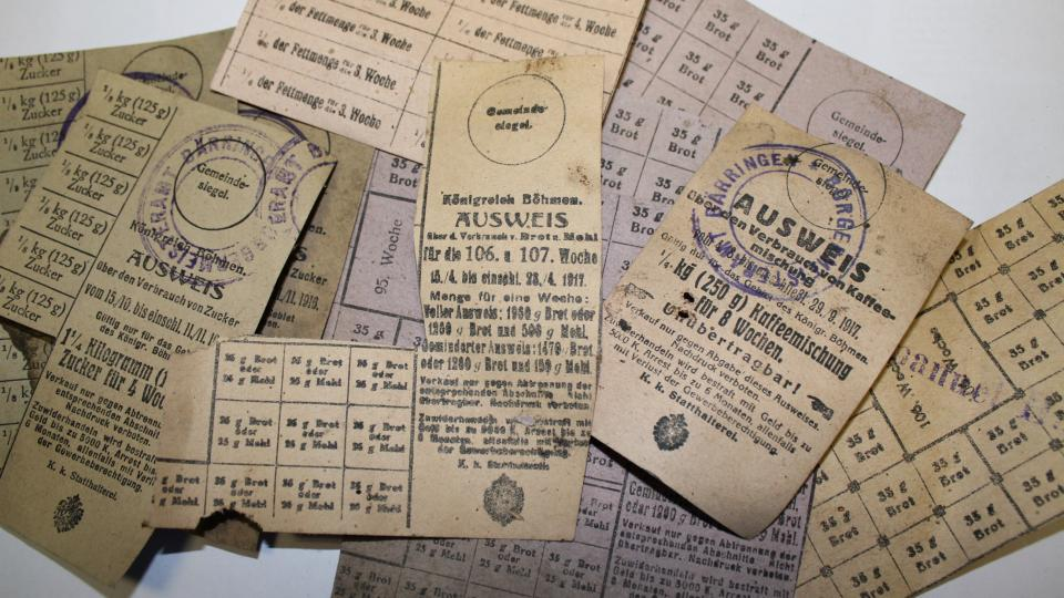 Potravinové lístky 1917