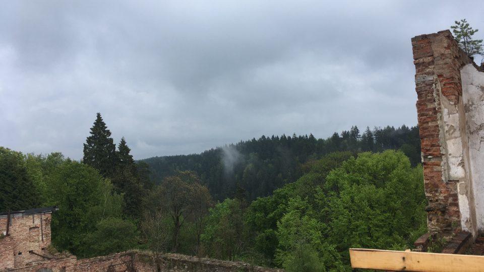 Hartenberg je ukryt v lese.JPG