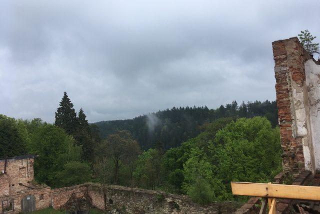Hartenberg je ukryt v lese